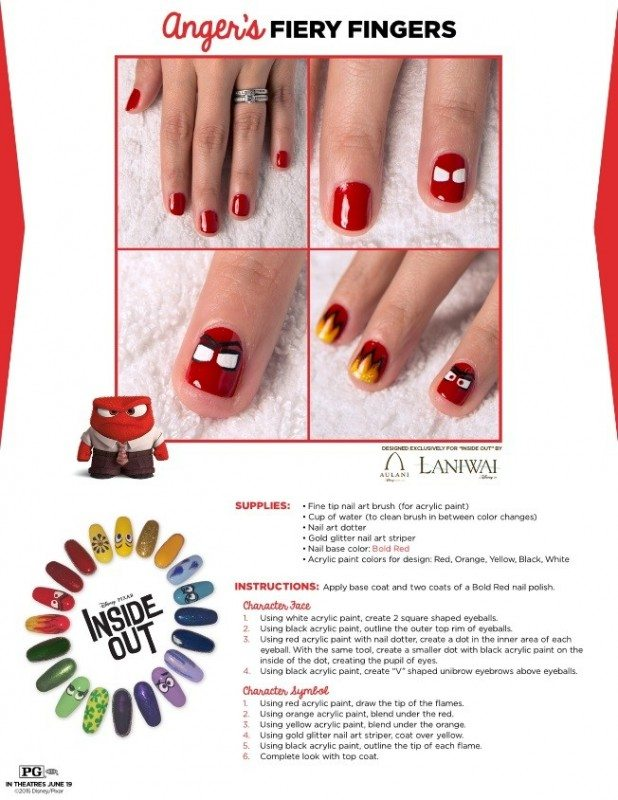 Check out these fun Inside Out crafts and games! Join Joy, Sadness, Disgust, Fear and Anger on a fun Inside Out crafts & games adventure for free time play. Inside Out Nail Art Emotions