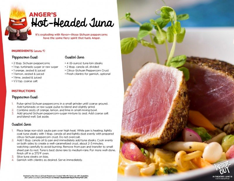 Inside Out Recipe Anger Hot Headed Tuna