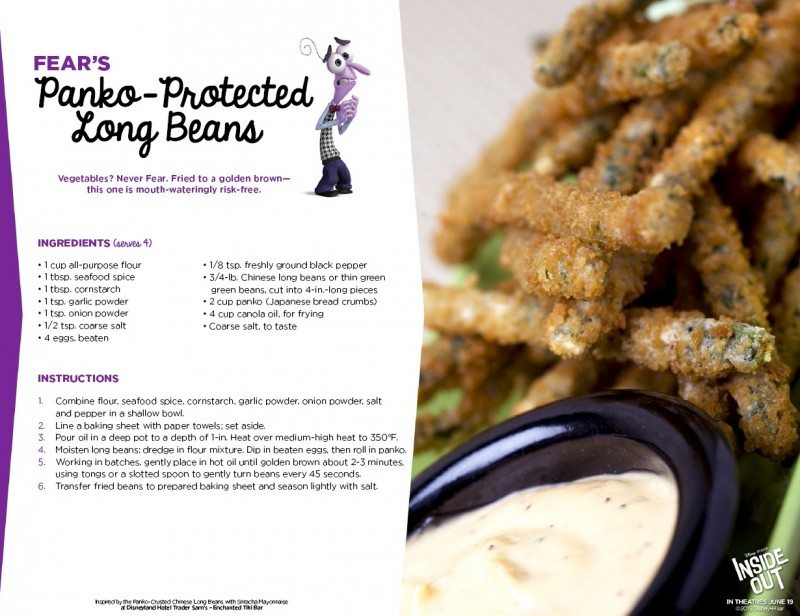 Inside Out Recipe Fear Panko Protected Long Beans
