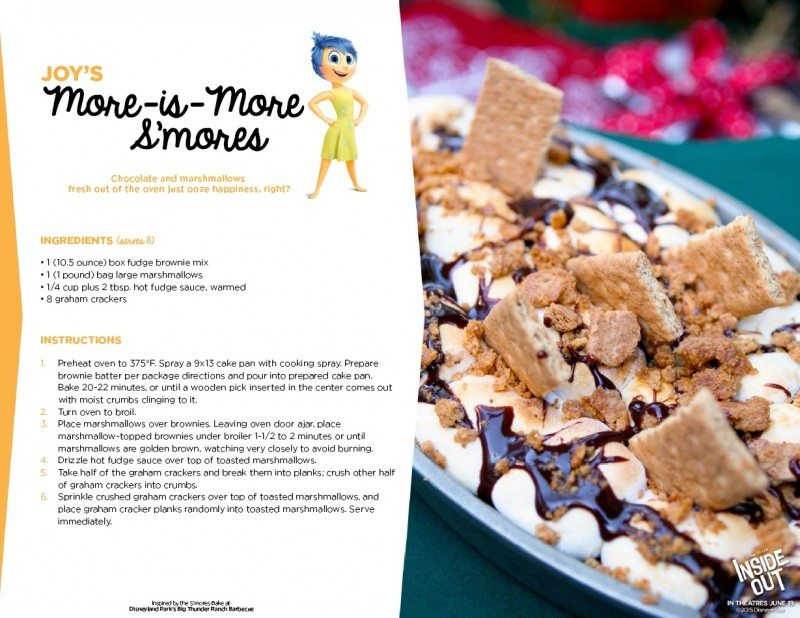 Inside Out Recipe Joy More is More Smores