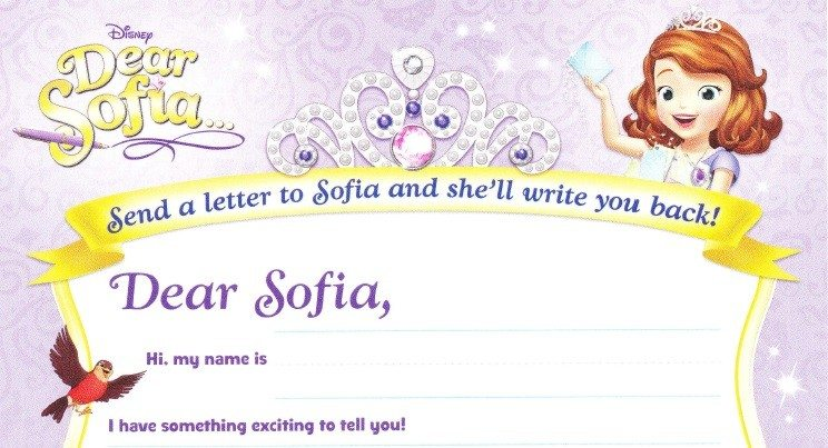 Sofia the first stationary letter writing printable dearsofia spiritdancerdesigns Gallery