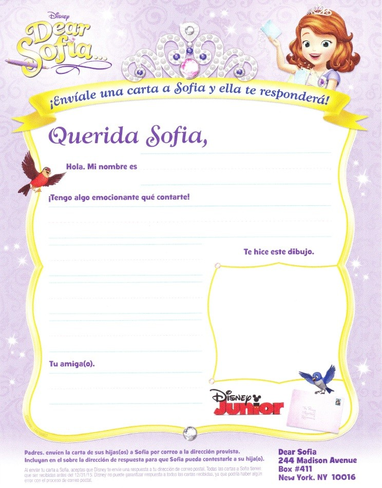 Write a Letter to Sofia the First + Special Episodes