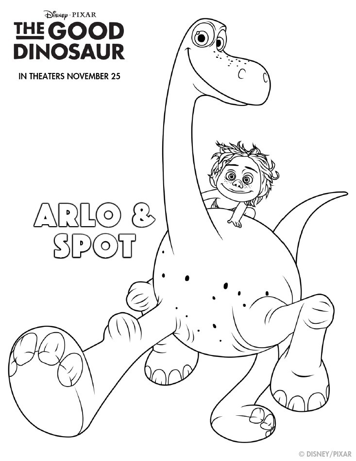 the good dinosaur activity amp coloring pages plus game