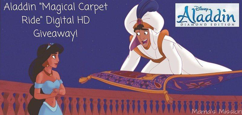 Aladdin Magical Carpet Ride Digital HD Giveaway