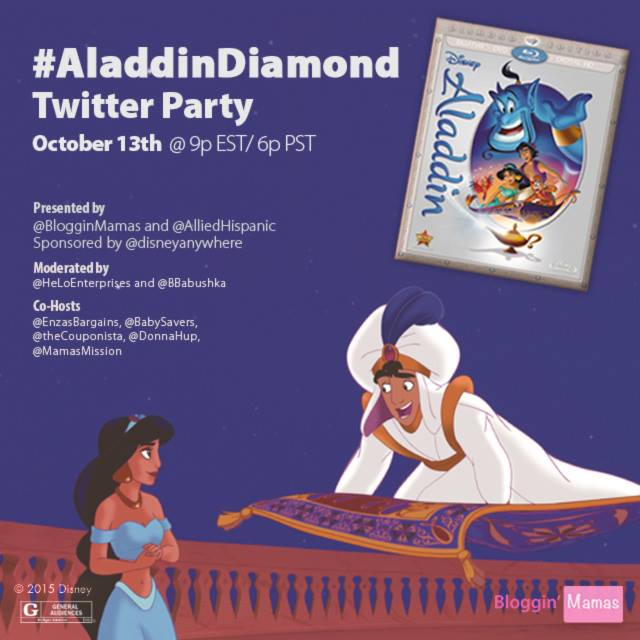 Disney's Aladdin Diamond Edition Twitter Party 2