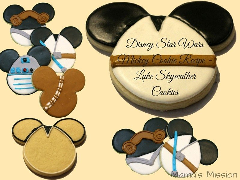 The Force is strong with this one. Disney Star Wars Mickey Cookie Recipe including Princess Leia, Luke Skywalker, R2-D2, and Chewbacca designs. These easy to make cookies are a real treat for any Star Wars fan!