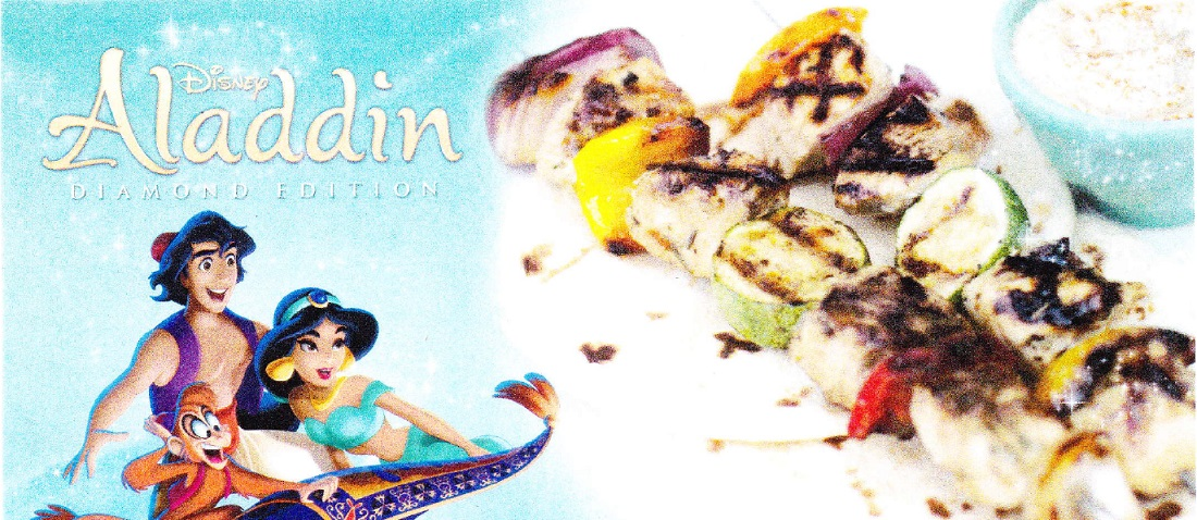 Disney's Aladdin Chicken Kabobs Recipe and Hummus Recipe