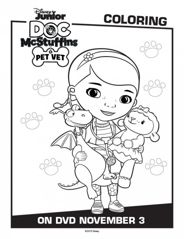 doc mcstuffins printable activity coloring pages pet vet. Black Bedroom Furniture Sets. Home Design Ideas