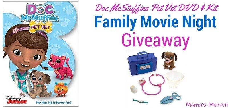 Doc McStuffins Pet Vet DVD Giveaway With Kit