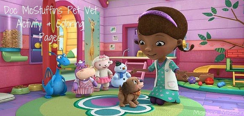 graphic relating to Printable Doc Mcstuffins identify Document McStuffins Printable Game Coloring Web pages - Dog Vet