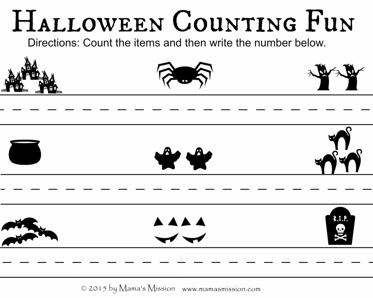 Halloween Counting Fun Printable