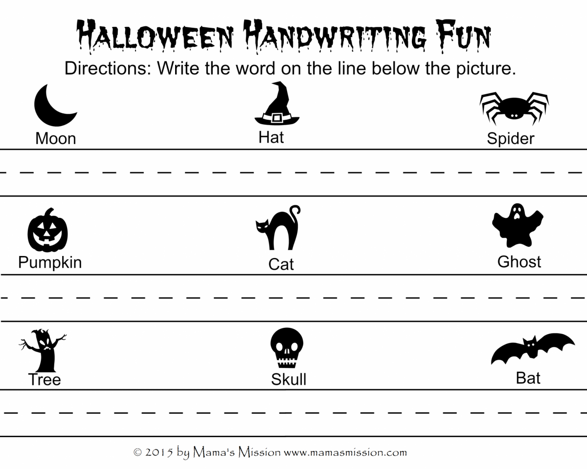 Halloween Handwriting Fun Printable