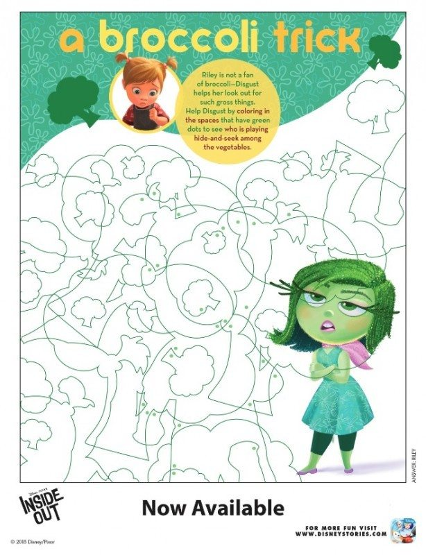 Inside Out Printable Acitivty A Broccoli Trick