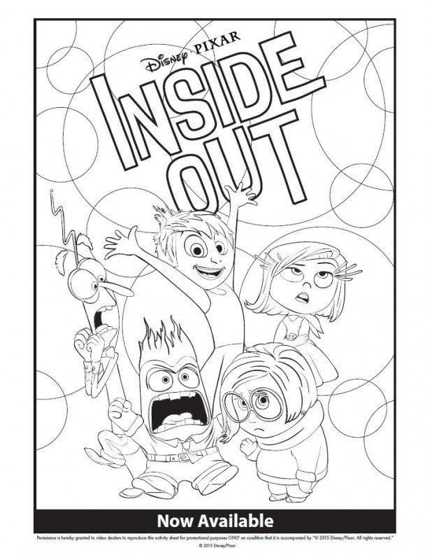 Inside Out Coloring Page Inside Out Giveaway