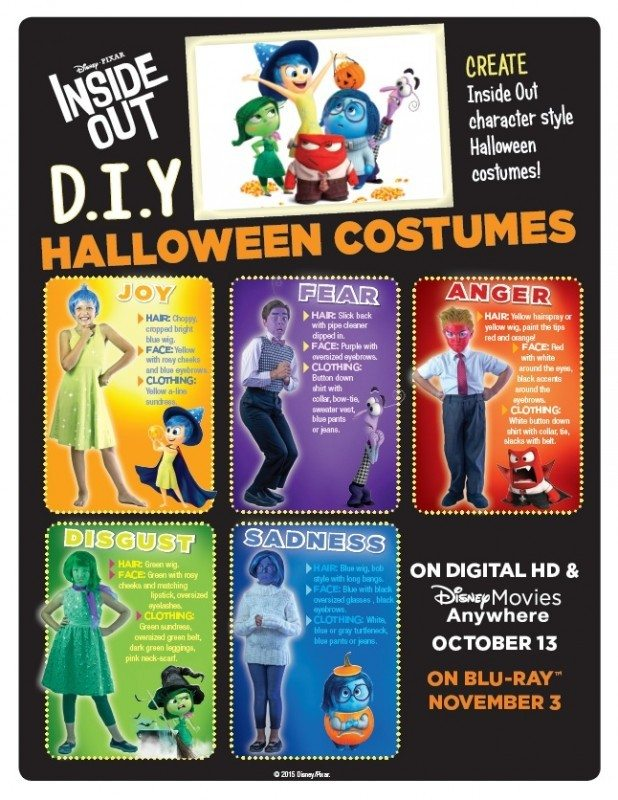 Inside Out DIY Halloween Costumes
