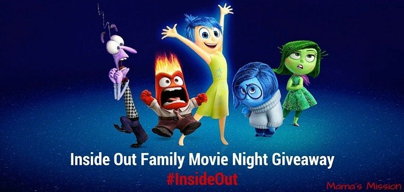 Inside Out Giveaway Family Movie Night Digital HD Code Card