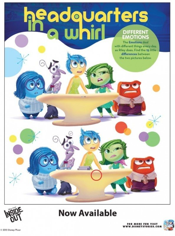 Inside Out Printable Activity Headquarters in a Whirl