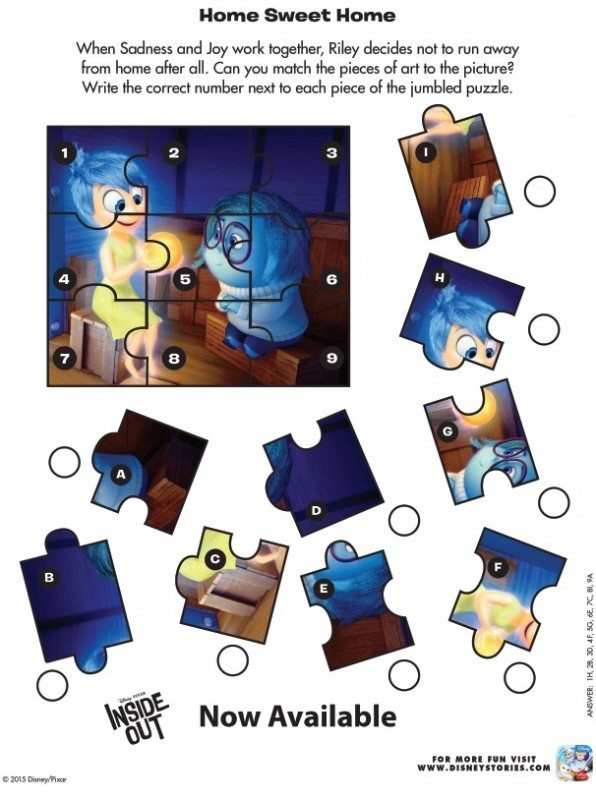 Inside Out Home Sweet Home Puzzle