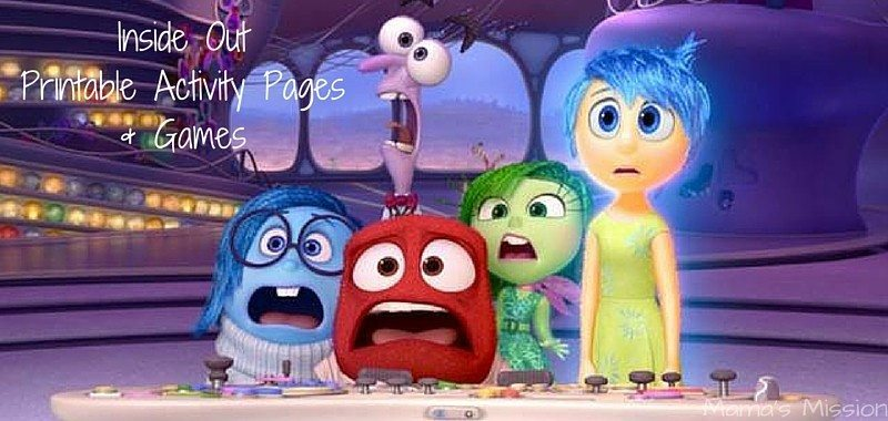 Inside Out Printable Activity & Coloring Pages