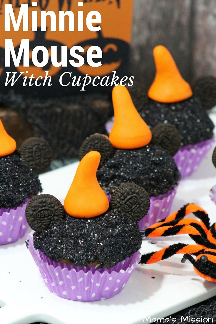 Minnie Mouse Witch Cupcakes Recipe Halloween Party Pin