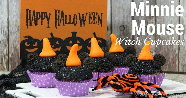 Minnie Mouse Witch Cupcakes Recipe Halloween Party