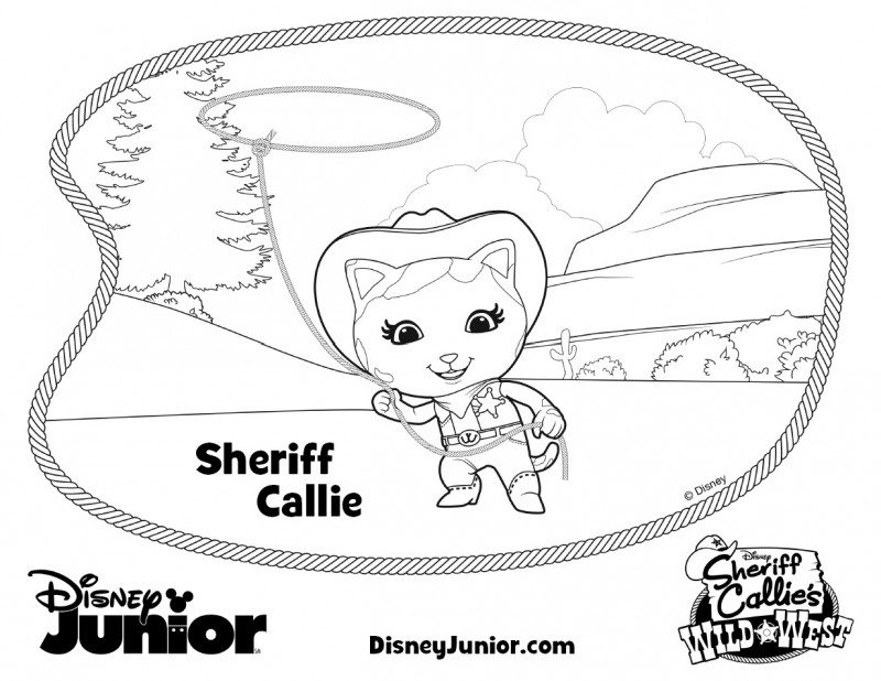 Sheriff Callies Coloring Pages Wild West 2
