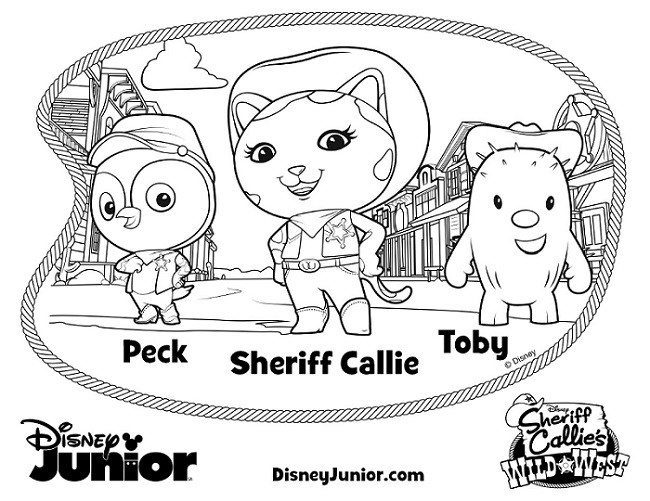 sheriff callie coloring pages Sheriff Callie Coloring Pages   Wild West: Howdy Partner sheriff callie coloring pages