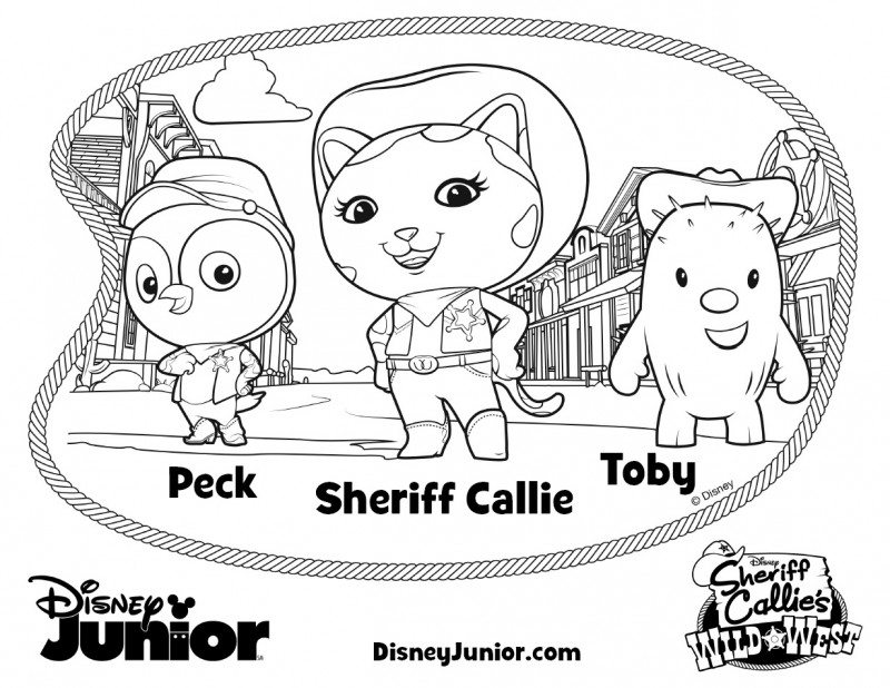 Sheriff Callie Coloring Pages Wild West Howdy Partner