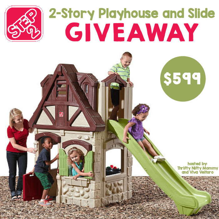 Step2 2-Story Playhouse and Slide Giveaway