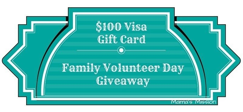 $100 Visa Gift Card Family Volunteer Day