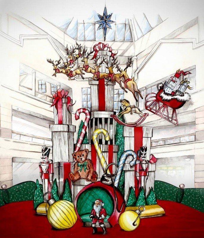 Aventura Mall with Santa Holiday Display and Cirque Dreams Show