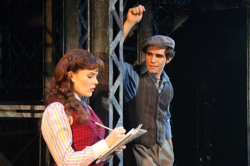 Disney Newsies #S10 Morgan Keene and Joey Barreiro (Jack Kelly). CDisney. Photo by Shane Gutierrez1