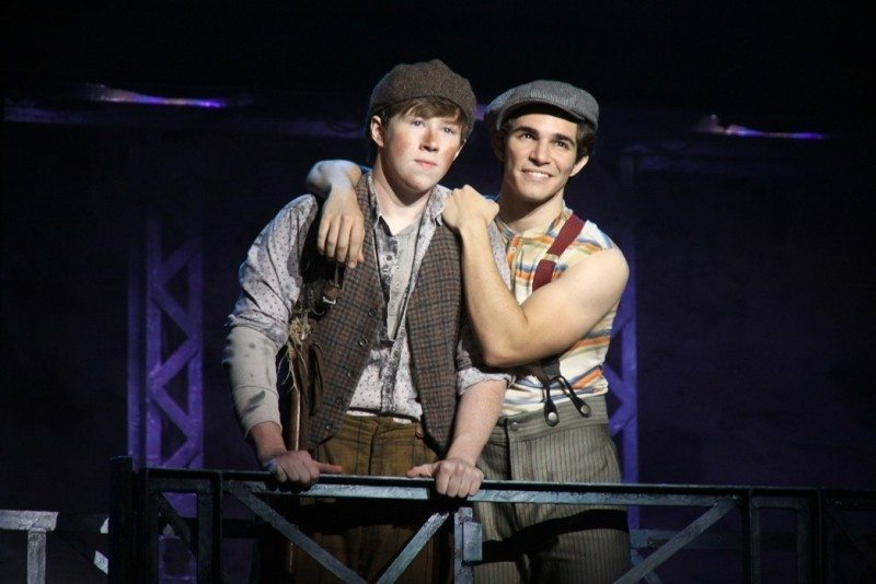 Disney Newsies #S9 Zachary Sayle (Crutchie) and Joey Barreiro (Jack Kelly). CDisney. Photo by Shane Gutierrez1