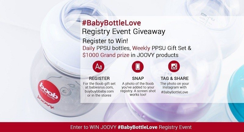 Joovy Boob Baby Bottle Love Contest Giveaway