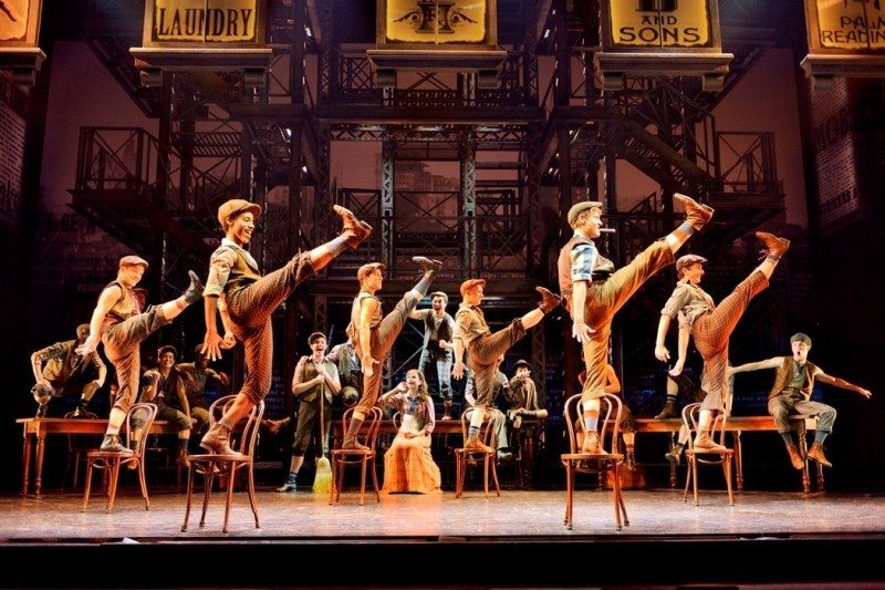 Original company North American Tour of NEWSIES Disney Photo by Deen van Meer Disney Newsies