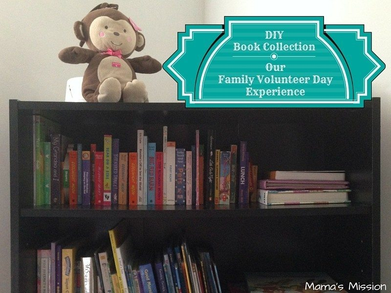 Our Family Volunteer Day Experience - Book Collection