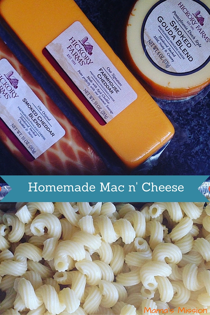 Homemade Macaroni and Cheese Recipe with Hickory Farms Holiday Comfort Food
