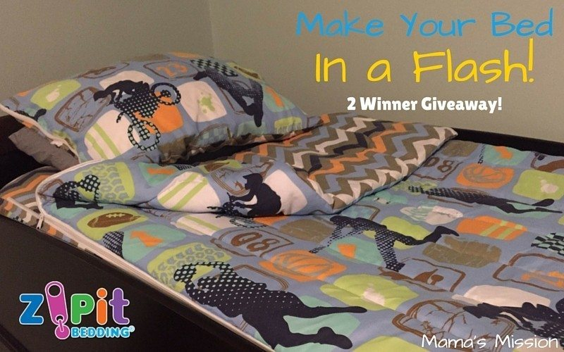 Make Your Bed in a Flash Zipit Bedding Giveaway