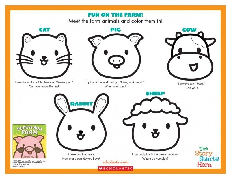 Peek-A-Boo Farm Sheet