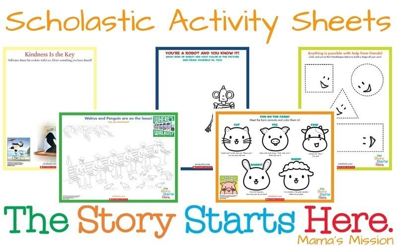 Scholastic Activity Sheets The Story Starts Here