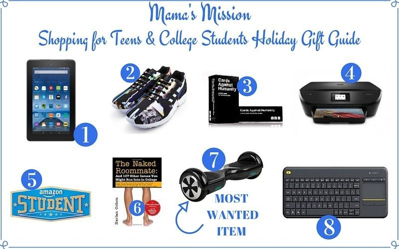 holiday gift guide for teens college students