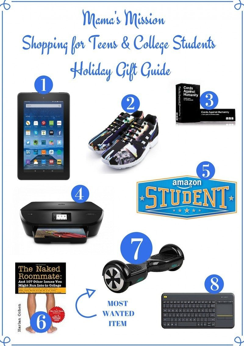 Shopping for Teens and College Students Holiday Gift Guide. amazon fire  tablet