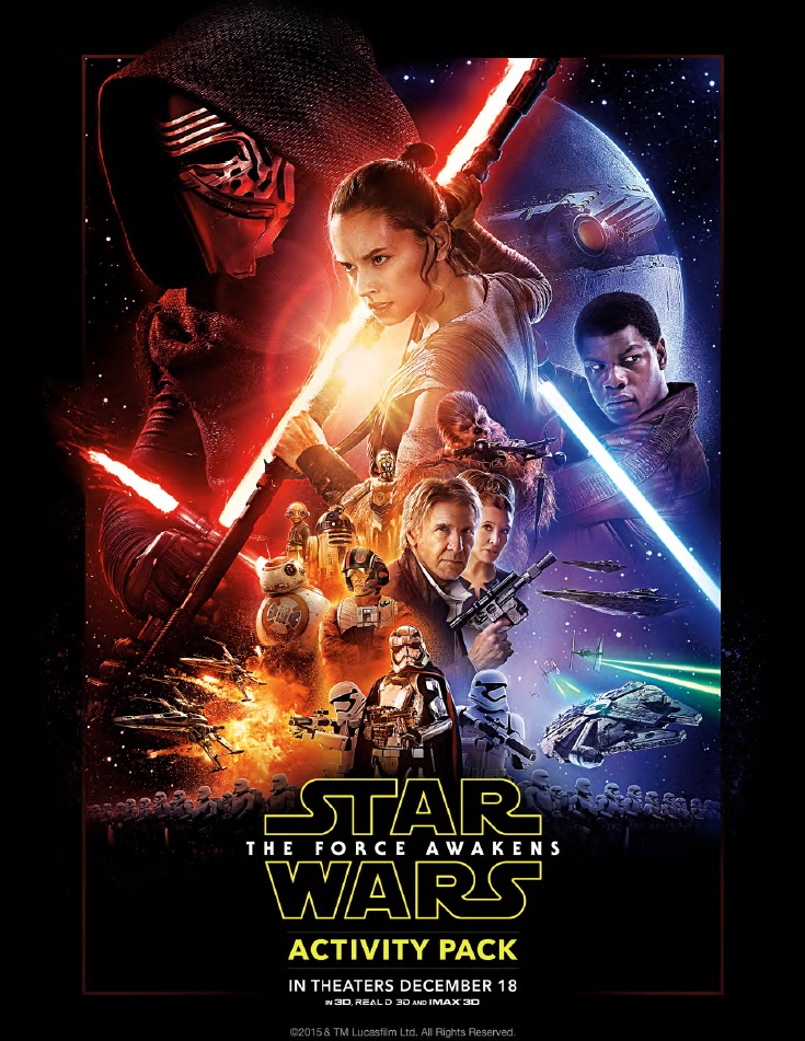 Star Wars Coloring Pages The Force Awakens Activity Pack