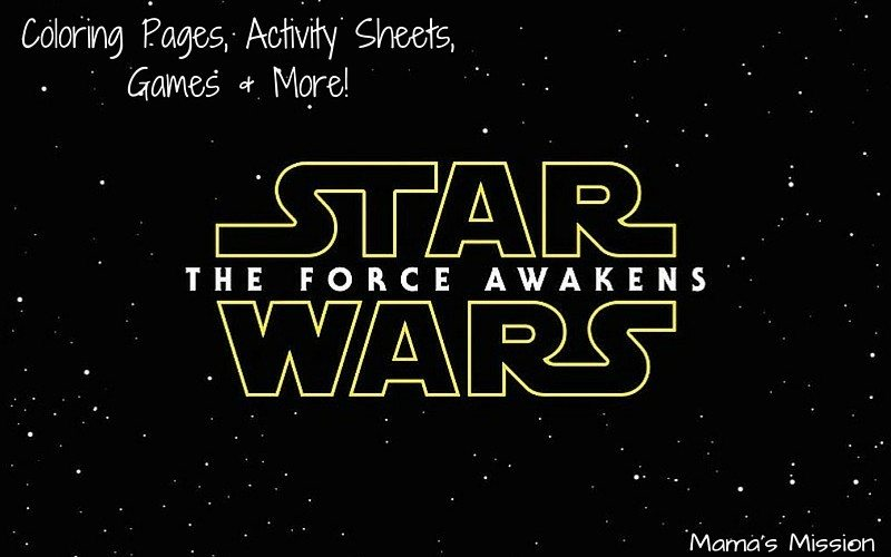 Star Wars Coloring Pages And Activity For The Force Awakens Pack