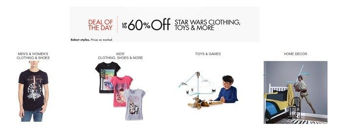 Star Wars The Force Awakens Sale on Clothing, Toys, Gear and more