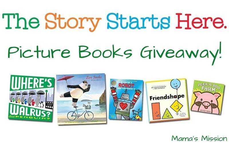 The Story Starts Here Scholastic Picture Books Giveaway