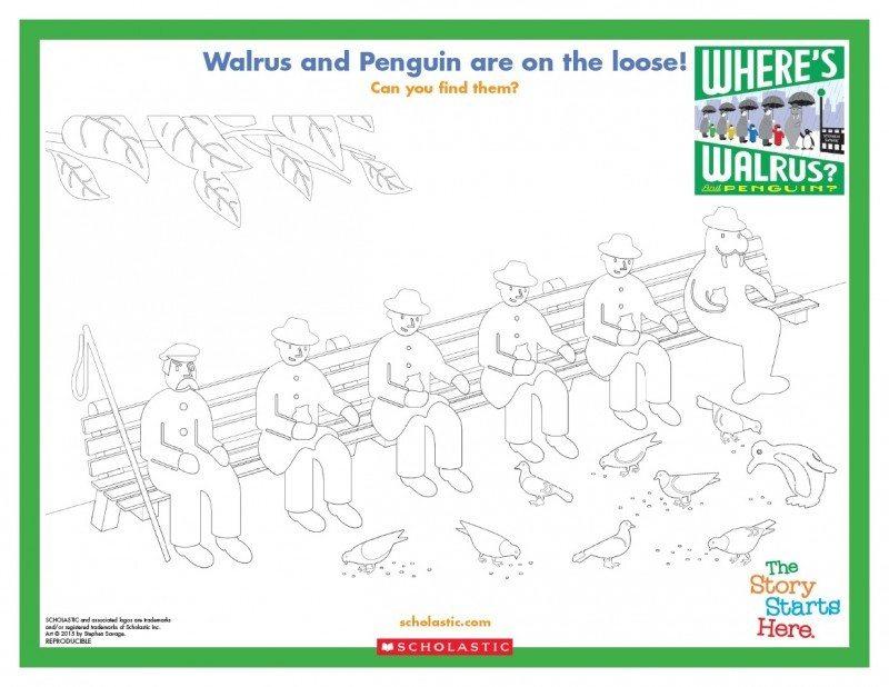 Wheres Walrus and Penguin Sheet