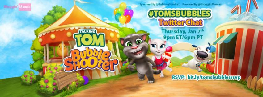 Talking Tom Bubble Shooter App