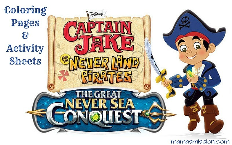 Captain Jake and the Never Land Pirates The Great Never Sea Conquest Coloring Pages and Activity Sheets Free Printable Jake Coloring Pages
