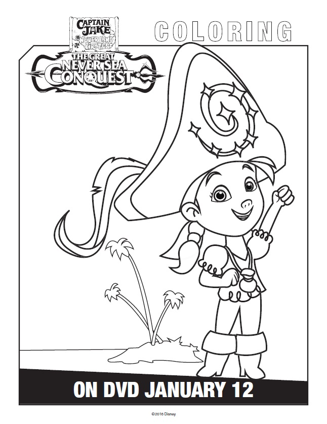 Free printable jake and the never land pirates coloring pages for Jake and the pirates coloring pages